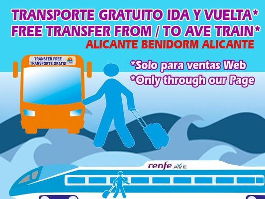 Do you know our FREE Shuttle? Magic Cristal Park Hotel Benidorm